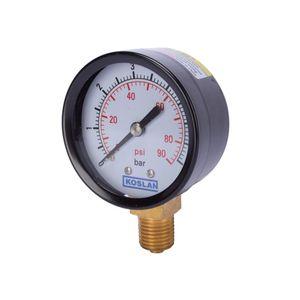 Manómetro Presión líquidos 87 psi Bourdon Koslan Negro