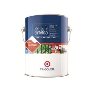 Esmalte Sintético 1 Galón Profesional Tricolor Gris perla