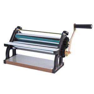 Laminadora de masas manual 40 cm nylon maxi Negro/inox