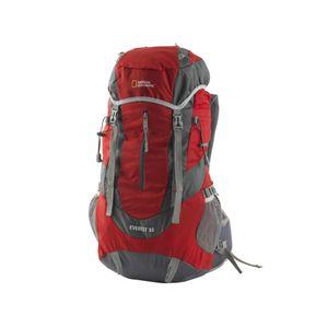 Mochila excursión 55 litros Everest national geographic Rojo
