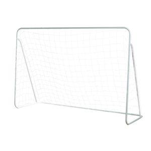Arco de futbol metálico 150 x 215 x 76 cm puntería game power Blanca