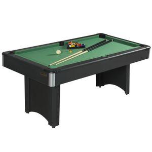 Mesa pool madera 128 x 91 x 78 cm gamepower Negro
