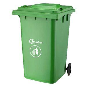 Contenedor Basura 360 lt Qrubber Verde