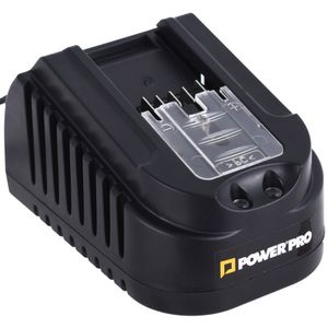Cargador Batería Ion-Litio 1,5A 18V Power Pro Negro