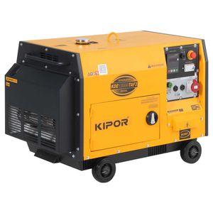 Generador trifásico diesel 8800w KDE12000TAF3 Kipor Amarillo