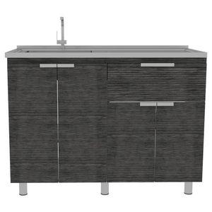 Mueble Inferior Fendi Roble Gris Tuhome Blanco/Roble gris