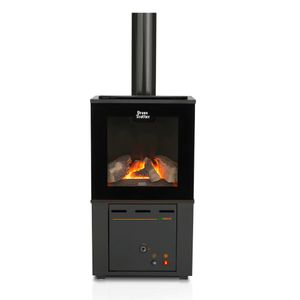 Calefactor Gas UT Ecowood-MT 8 GN Ursus Trotter Negro