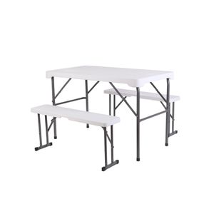 Set de mesa y bancos plegables 113*68.5*73cm Northwest