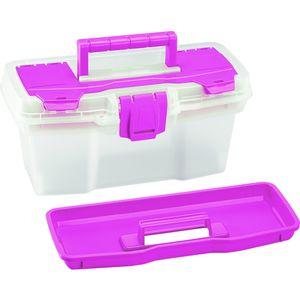 Caja Organizadora 11'' Rimax Transparente/Rosado