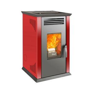 Calefactor a pellet 8,6 kw Italy 8100 roja amesti Rojo