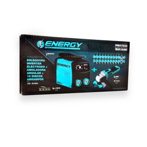 Kit Soldadora 140 Amp + Esmeril 600W + 10 Discos Energy